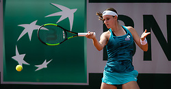 May 23, 2019 - Paris, FRANCE - Greet Minnen of Belgium in action during the second qualification round at the 2019 Roland Garros Grand Slam tennis tournament (Credit Image: © AFP7 via ZUMA Wire)