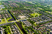Nederland, Flevoland, Zeewolde, 07-05-2018; dorp in Zuidelijk Flevoland.<br /> Village in new polder.<br /> <br /> luchtfoto (toeslag op standard tarieven);<br /> aerial photo (additional fee required);<br /> copyright foto/photo Siebe Swart
