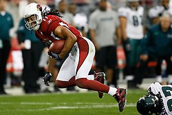 18 Jan 2009: Arizona Cardinals wide receiver Larry Fitzgerald #11 carries the ball during the NFC Championship game against the  Philadelphia Eagles on January 18th, 2009. The Cardinals won 32-25 at University of Phoenix Stadium in Glendale, Arizona. (Photo by Brian Garfinkel)