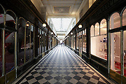 old style shopping arcade Galerie Véro Dodat in Paris France