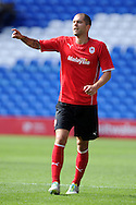 Cardiff city's Matthew Connolly in action. Pre season friendly match, Cardiff city v Athletic Club Bilbao at the Cardiff city stadium in Cardiff,  South Wales on Saturday 10th August 2013. pic by Andrew Orchard,  Andrew Orchard sports photography,