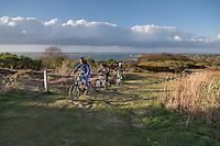 Mountain bikes on Headon Warren, West Wight