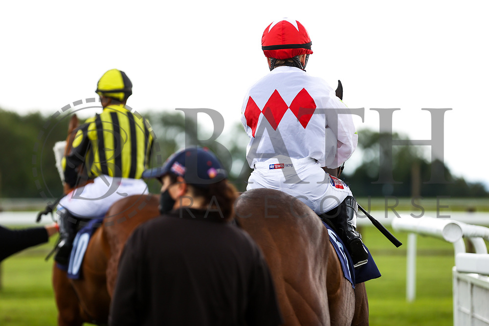 Hollie Doyle heads out on Zest of Zambia for the 14:35 Home Of Winners At valuerater.co.uk Handicap (Div 1) - Rogan/JMP - 14/07/2020 - HORSE RACING - Bath Racecourse - Bath, England.