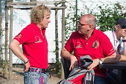 Janssens Sjef, (NED), Van Lent Jeroen, (BEL)<br /> Vet check dressage<br /> European Championschip Aachen 2015<br /> © Hippo Foto - Jon Stroud
