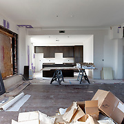 Photo of the first show unit in the Power and Light Building in downtown Kansas City during conversion to residential apartments. The unit is scheduled to be completed three to four weeks out from date of photo, Aug. 15, 2015.