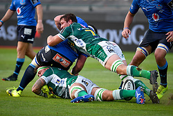 Michele Lamaro (Benetton Treviso) tackling during Rainbow Cup 2021 Final - Benetton Treviso vs Vodacom Blue Bulls, Rugby Guinness Pro 14 match in Treviso, Italy, June 19 2021