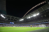 a General view of Wembley Stadium with the Arch lights turned on during the 1st half. UEFA Champions league match, group E, Tottenham Hotspur v AS Monaco at Wembley Stadium in London on Wednesday 14th September 2016.<br /> pic by John Patrick Fletcher, Andrew Orchard sports photography.