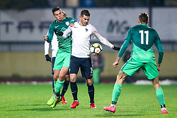 Kenan Fatkic of Slovenia and Lucas Hernandez of France during football match between Slovenia and France in Qualifying round for European Under-21 Championship 2019, on November 13, 2017 in Sportni park, Domzale, Slovenia. Photo by Morgan Kristan / Sportida