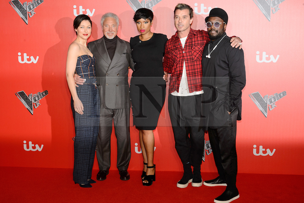 © Licensed to London News Pictures. 04/12/2017. EMMA WILLIS SIR TOM JONES, JENNIFER HUDSON, GAVIN ROSSDALE and WILL.I.AM attend the Launch of The Voice UK on ITV, London, UK. Photo credit: Ray Tang/LNP