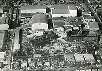 1936 Aerial view of United Artist Studios. Formerly Pickford Fairbanks Studio