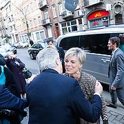 BEL/Brussel/20130319- Uitreiking Prinses Margriet Award 2013, aankomst, Prinses Laurentien en Astrid