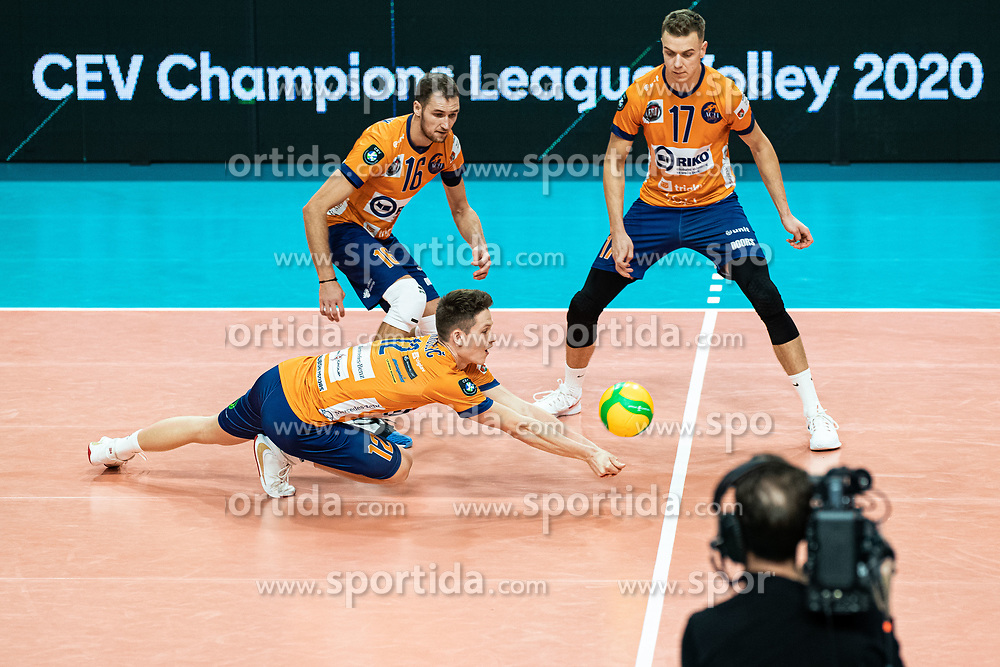 Okroglic Jure of ACH Volley during volleyball match between ACH Volley Ljubljana (SLO) and Kuzbas Kemerevo (RUS) n 2nd Round, group B of 2019 CEV Volleyball Champions League, on December 11, 2019 in Hala Tivoli, Ljubljana, Slovenia. Grega Valancic / Sportida