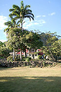 The main house that houses the restaurant, lounge and the library at The Hermitage Plantation Inn, Nevis 4/05