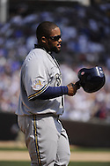 CHICAGO - APRIL 14:  Prince Fielder #28 of the Milwaukee Brewers looks on against the Chicago Cubs on April 14, 2010 at Wrigley Field in Chicago, Illinois.  The Cubs defeated the Brewers 7-6.  (Photo by Ron Vesely)