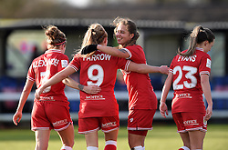 Bristol City Women players celebrate with Millie Farrow - Mandatory by-line: Paul Knight/JMP - Mobile: 07966 386802 - 14/02/2016 -  FOOTBALL - Stoke Gifford Stadium - Bristol, England -  Bristol Academy Women v QPR Ladies - FA Cup third round