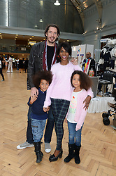 JASON GALE and SINITTA and her children ZAC and MAGDALENA at the Plusher Fair, Lindley Hall, Royal Horticultural Halls, Vincent Square, London, on 9th November 2013.
