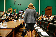 General Motors CEO Mary Barra arrives to testify before the House Energy and Commerce Committee hearing on Capitol Hill in Washington.