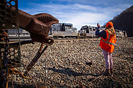 railfan, horseshoe curve, railroad, safety, vest, Altoona, NS, Norfolk Southern, train, railway, girl, photographer,