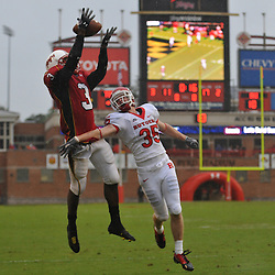 Sep 26, 2009; College Park, MD, USA; Rutgers cornerback Billy Anderson (35) breaks up a reception attempt by Maryland wide receiver LaQuan Williams (3) during Rutgers' 34-13 victory over Maryland in NCAA college football at Byrd Stadium.