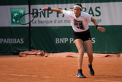 May 22, 2019 - Paris, FRANCE - Victoria Azarenka of Belarus during practice at the 2019 Roland Garros Grand Slam tennis tournament (Credit Image: © AFP7 via ZUMA Wire)