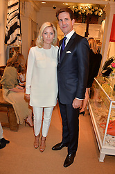 CROWN PRINCE PAVLOS OF GREECE and PRINCESS MARIE-CHANTAL OF GREECE at a party to celebrate the publication of India Hicks: Island Style hosted by Princess Marie-Chantal of Greece, Saffron Aldridge and Amanda Brooks has held at Ralph Lauren, 105-109 Fulham Road, London on 28th April 2015,