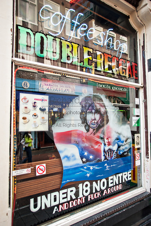 Double Reggae Coffee Shop and cannabis in Amsterdam.