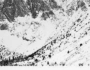 Cliffs at Convict Lake, winter, Inyo National Forest, California  1995