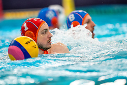 Eelco Wagenaar of the Netherlands in action against Montenegro during the Olympic qualifying tournament. The Dutch water polo players are on the hunt for a starting ticket for the Olympic Games on February 19, 2021 in Rotterdam
