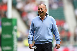 England Rugby Head Coach Eddie Jones looks on during the pre-match warm-up - Mandatory byline: Patrick Khachfe/JMP - 07966 386802 - 11/08/2019 - RUGBY UNION - Twickenham Stadium - London, England - England v Wales - Quilter International