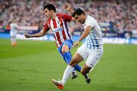 "Atletico de Madrid's player Nico Gaitán and Malaga CF Gonzalo ""Chory"" Castro during a match of La Liga Santander at Vicente Calderon Stadium in Madrid. October 29, Spain. 2016. (ALTERPHOTOS/BorjaB.Hojas)"