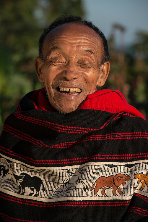 Ao Naga traditional shawls<br /> Ao Naga headhunting tribe<br /> Nagaland,  ne India