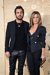 """File photo - Justin Theroux and Jennifer Aniston attending the Louis Vuitton's Dinner for the Launch of Bags by Artist Jeff Koons at Musee du Louvre in Paris, France,on April 11, 2017. Hollywood couple Jennifer Aniston and Justin Theroux are separating after two years of marriage. The pair, who reportedly met on the set of comedy film Wanderlust, said the mutual decision was """"lovingly made"""" at the end of last year. Photo by Alban Wyters/ABACAPRESS.COM"""
