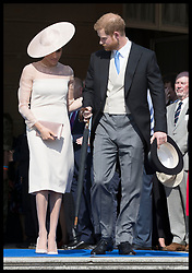 May 22, 2018 - London, London, United Kingdom - Image licensed to i-Images Picture Agency. 22/05/2018. London, United Kingdom. The Duke and Duchess of Sussex at the Prince of Wales' 70th Birthday Patronage Celebration in the gardens of  Buckingham Palace in London. (Credit Image: © Stephen Lock/i-Images via ZUMA Press)
