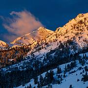 Sunrise over the Teton Range just south of Jackson Hole Mountain Resort.