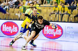 Nejc Cehte of Celje during handball match between RK Celje Pivovarna Lasko and RK Gorenje Velenje in Last Round of 1. Liga NLB 2016/17, on June 2, 2017 in Arena Zlatorog, Celje, Slovenia. Photo by Vid Ponikvar / Sportida