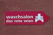 """Vienna, Karl-Marx-Hof. Washing salon """"The Red Vienna""""."""