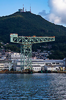 51.1 The Nagasaki Shipyard and Machinery Works 三菱重工業長崎造船所  operated by Mitsubishi Heavy Industries is also still in operation. The main plant in Nagasaki City was founded by the Tokugawa Shogunate back in 1857. Many famous Japanese ships have been built here including the recently discovered famed battleship Musashi, which was the heaviest and most powerfully armed battleship ever constructed at the time.  The Nagasaki Seitetsusho ironworks was taken over by the Meiji Government and put under the control of Nagasaki prefecture.