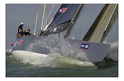 TEAM GBR starting the Round the island race as part of the Americas Cup Jubilee Celebrations...Marc Turner / PFM.