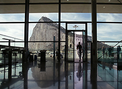 File photo dated 11/09/15 of the Rock of Gibraltar viewed from the departure lounge of Gibraltar Airport. Spain is threatening to reject the UK's EU withdrawal agreement unless last-minute changes are introduced on the treatment of Gibraltar.