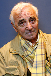 Portrait session of French singer Charles Aznavour in Lille, north of France, on December 8th, 2009. Photo by Mikael Libert/Asa-Pictures/ABACAPRESS.COM