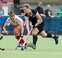 BREDA (Neth.)  Pippa Norman of NZ  during the match  New Zealand vs England U21 women . Volvo Invitational Tournament U21. COPYRIGHT KOEN SUYK