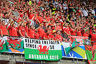 Wales fans, UEFA Euro 2016, group B , England v Wales at Stade Bollaert -Delelis  in Lens, France on Thursday 16th June 2016, pic by  Andrew Orchard, Andrew Orchard sports photography.