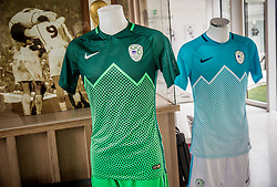 New Jerseys of Slovenian National Team at Headquarters of NZS (Football Association of Slovenia) - National football training centre one day before it's opening, on May 5, 2016 in Brdo pri Kranju, Slovenia. Photo by Vid Ponikvar / Sportida