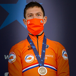 08-11-2020: Wielrennen: EK Veldrijden: Rosmalen<br /> Bronse medal Lars van der Haar (Netherlands)