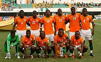 Photo: Steve Bond/Richard Lane Photography.<br /> Ivory Coast v Benin. Africa Cup of Nations. 25/01/2008. Ivory Coast team