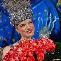VENICE, ITALY - MARCH 05:  Antonia Sautter receives a bunch of roses at Palazzo Pisani Moretta during the annual Ballo del Doge on March 5, 2011 in Venice, Italy. The Ballo del Doge, created by fashion and costume designer Antonia Sautter, is considered the most elegant and exclusive masquerade ball during the Venice Carnival.