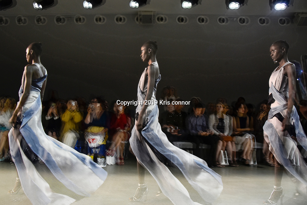 General view of the Blancore 2020 SS NYFW Show at Spring Studios on September 5, 2019 in New York City. (Photo by Kris Connor/Blancore)