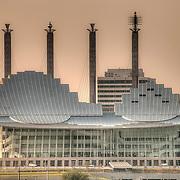 Kauffman Center for the Performing Arts taken from Liberty Memorial - Kansas City, Missouri.