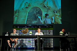 Matej Mohoric, Tadej Pogacar and Diego Ulissi during press conference prior to the 27th Tour of Slovenia, on June 08, 2021 in Ptuj, Slovenia. Photo by Vid Ponikvar / Sportida