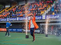 Den Bosch - Rabo fandag 2019 . hockey clinics met de spelers van het Nederlandse team. opkomst van international Jonas de Geus (Ned)  COPYRIGHT KOEN SUYK